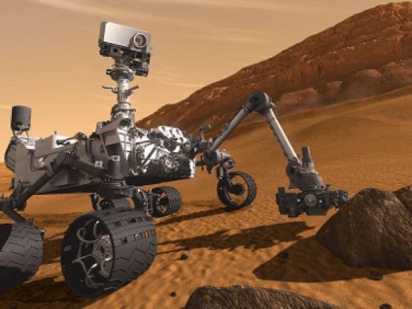 """Computeranimation des Mars-Rovers """"Curiosity"""". Foto: © NASA"""