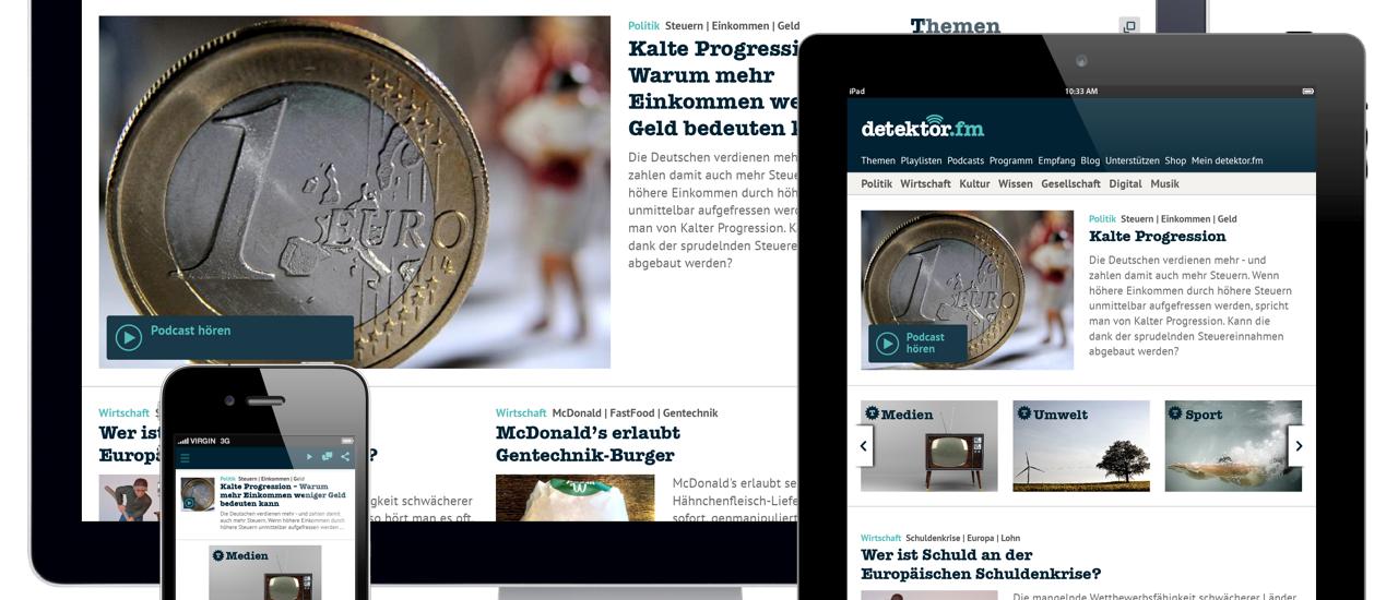 Ein Eindruck der neuen Webseite auf verschiedenen Endgeräten.