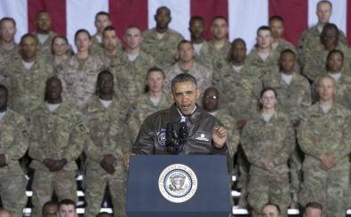 Barck Obama erklärt sich zu einer Militäroffensive im Irak bereit. Foto: AFP | Saul Loeb