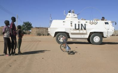 Der Unamid-Einsatz in der Provinz Darfur im Sudan. Foto: Asharf Shazly (AFP)