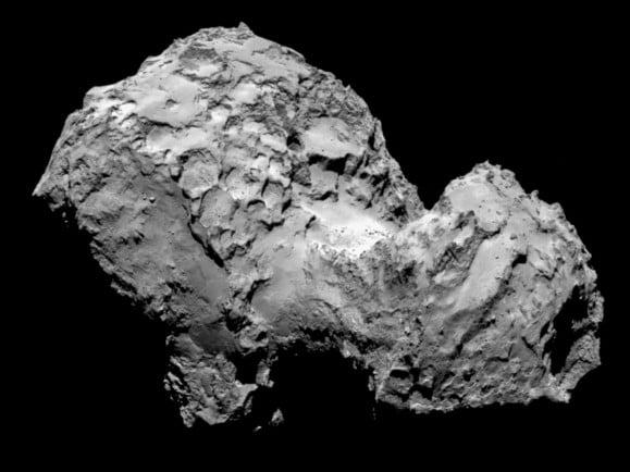 Bild vom Komet 67P/Churyumov-Gerasimenko vom 3. August 2014. Foto: ESA/Rosetta/MPS for OSIRIS Team MPS/UPD/LAM/IAA/SSO/INTA/UPM/DASP/IDA