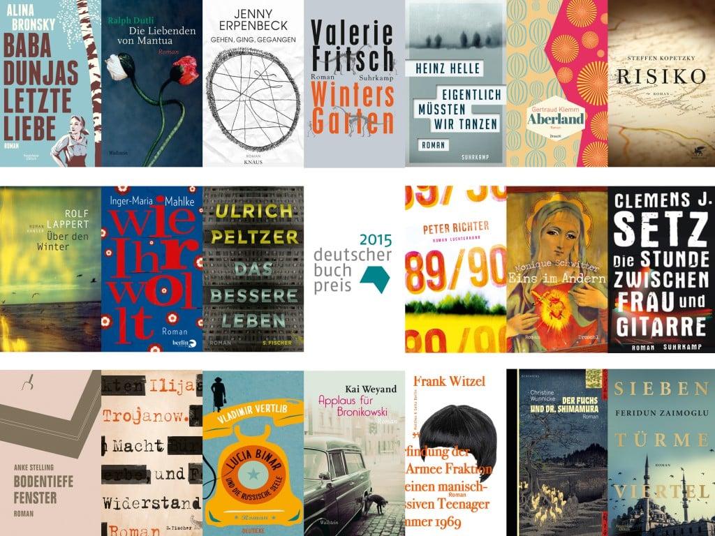 Das sind die 20 Longlist-Titel des Deutschen Buchpreises 2015