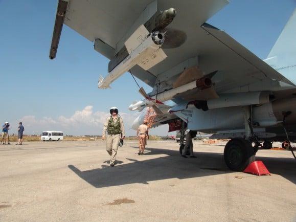 Russisches Flugzeug in Syrien_Alexander Kots_Komsomolskaya Pravda_AFP