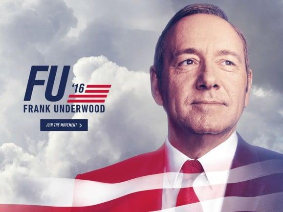 "Frank Underwood (Kevin Spacey) als Präsidentschaftskandidat in ""House of Cards"". Foto: Pressefoto / Netflix"