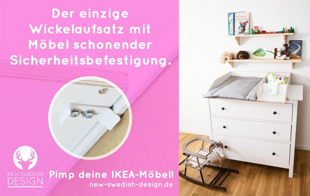 So wird deine Ikea-Kommode zum Wickeltisch