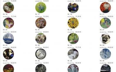 Die Kunst – und nix als die Kunst. So sehen die Werke aus, die man bei artcoin kaufen kann. Foto: Screenshot / © Kunstballast Grafenberg GmbH