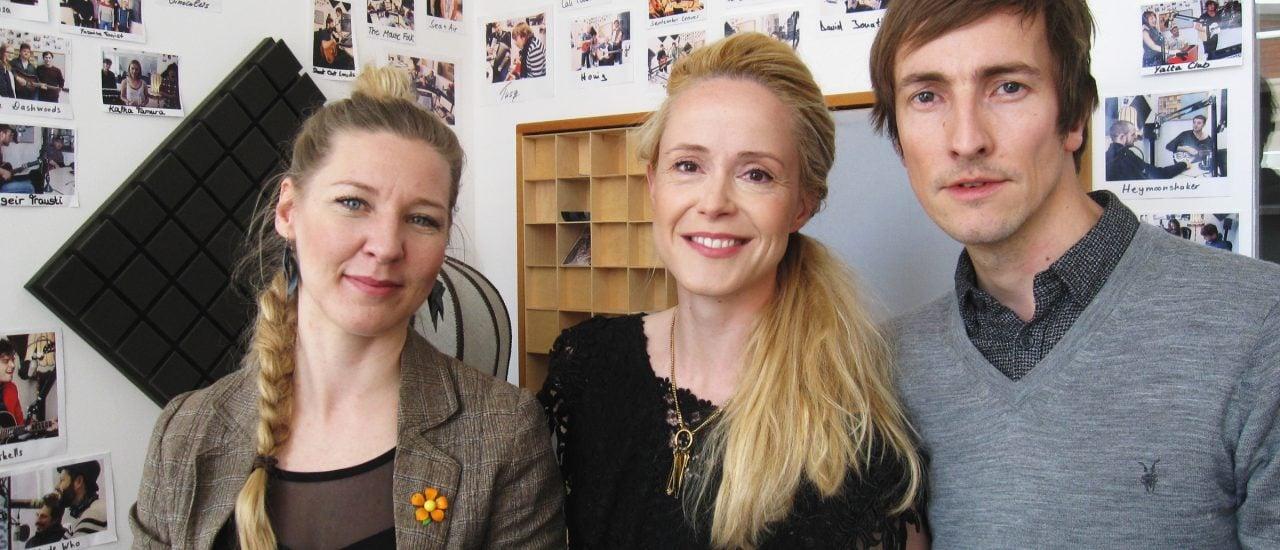 Marianne Lewandowski, Tina Dico und Helgi Jónsson zu Gast im Studio. Foto: detektor.fm