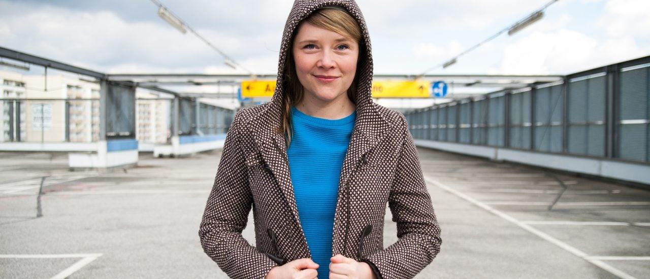 "Franziska Wilhelm vertritt Leipzig bei den ""RadioPoeten"". Foto: franziska-wilhelm.de | Susann Jehnichen (Fotografin)."