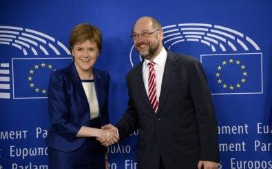 Nicola Sturgeon, Regierungschefin von Schottland, wirbt in Brüssel dafür, dass ihr Land in der Europäischen Union bleiben darf. Foto: AFP | Therry Charlier