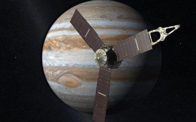 Immer rund um den Riesen: Die Raumsonde Juno umkreist den Planeten Jupiter. Foto: NASA | JPL-Caltech / nasa.gov