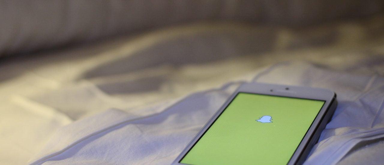 Snapchat wird häufig fürs Sexting benutzt. Foto: Snapchat | Maurizio Pesce | flickr.com | CC BY 2.0