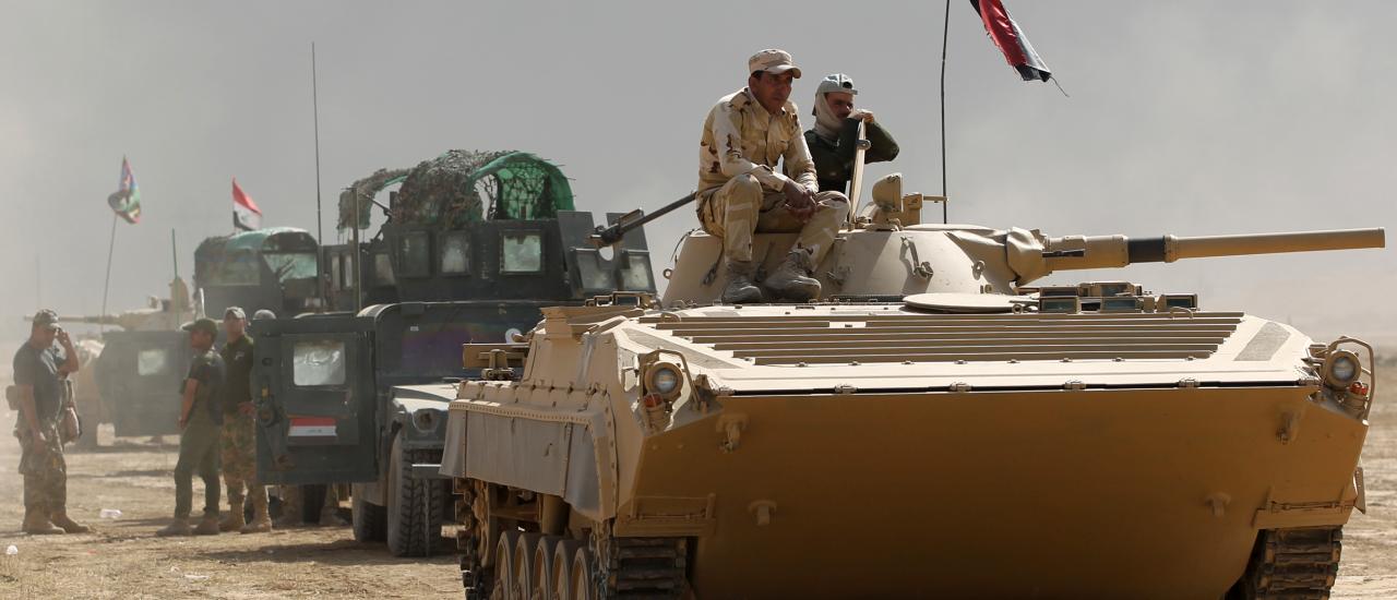 Irakische Truppen marschieren in Mossul ein. Können sie die Stadt befreien? Foto: Ahmad al Rubaye | AFP