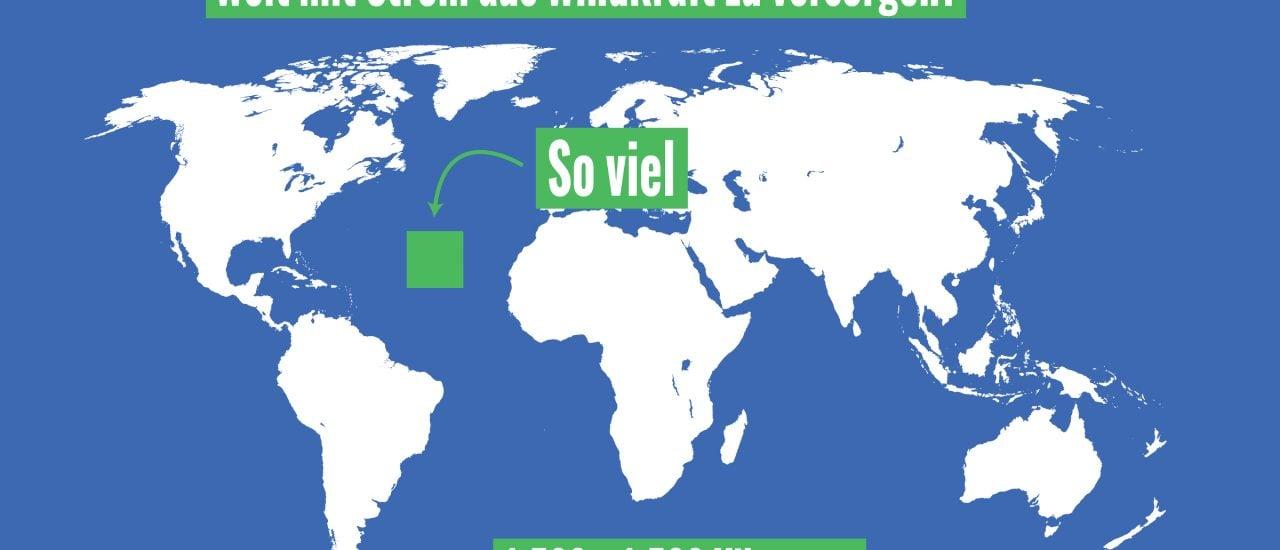 Erneuerbare Energie: Lässt sich die ganze Welt nur mit Solarstrom oder Windkraft versorgen? | Grafik: © Katapult Magazin