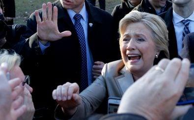 US-Wahlkampf: Präsidentschaftskandidatin Hillary Clinton nach einem Auftritt in New York. Foto: Eduardo Munoz Alvarez | AFP