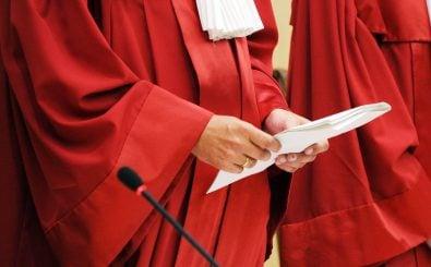 Richter in Robe am Bundesverfassungsgericht. Foto: Uli Deck / AFP