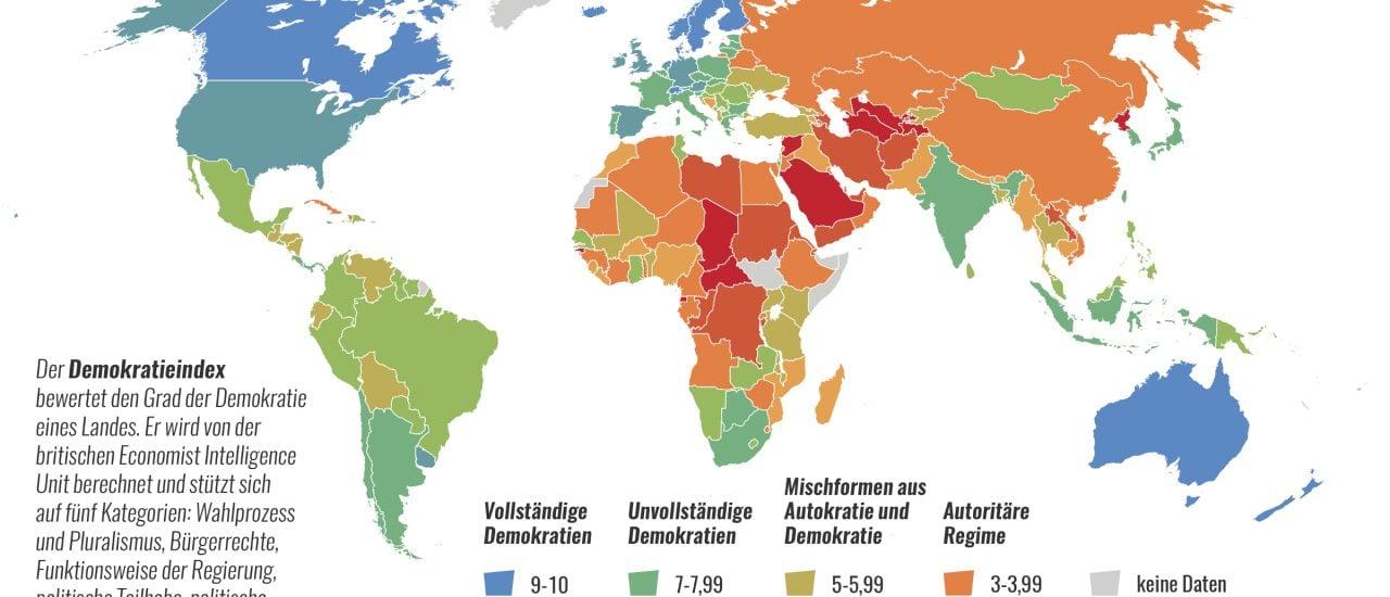 Karte Der Woche Die Usa Und Der Demokratie Index Demokratie
