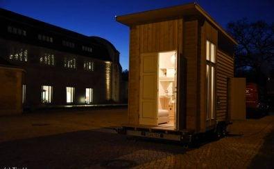 Das Tiny100: ein Tiny House  mitten in Berlin. 6,4 Quadratmeter für 100 Euro Miete. Foto: © Tiny University