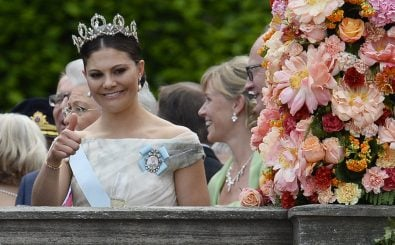 Die schwedische Kronprinzessin Victoria auf der Hochzeit von Prinz Carl Phillip. Foto: Jonathan Nackstrand / AFP