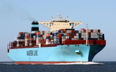 2016 hat Deutschland Waren im Wert von über 1.200 Milliarden Euro exportiert. Foto: MAERSK EDINBURGH near Cuxhaven | cuxclipper | flickr.com