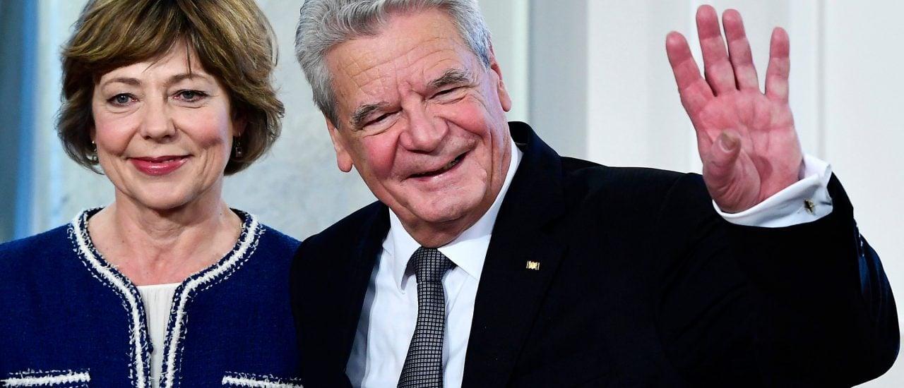Joachim Gauck und seine langjährige Lebensgefährtin Daniela Schadt. Foto: Tobias Schwarz | AFP