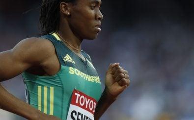 Caster Semenya steht seit Jahren im Mittelpunkt der Geschlechter-Diskussion in der Leichtathletik. Foto: Adrian Dennis | AFP