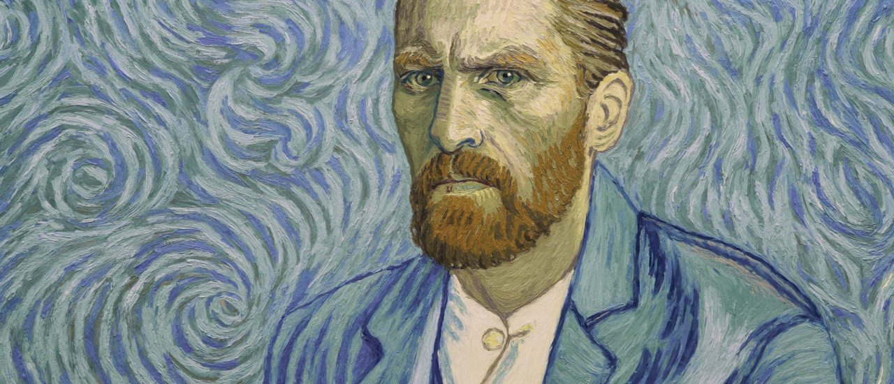 Ein Selbstportrait von Vincent van Gogh, hier gemalt nach dem Modell des Schauspielers Robert Gulaczyk, der Vincent im Film verkörpert. Bild: © 2017 Loving Vincent Sp.z.o.o. | Loving Vincent Ltd.