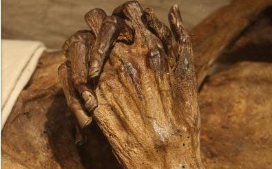 Doktorarbeit mit Gruselfaktor: Eine Wissenschaftlerin untersucht Mumien im sächsischen Riesa. Foto: Kahlbutz – Hände CC BY-SA 2.0 | Rolf Dietrich Brecher / flickr.com