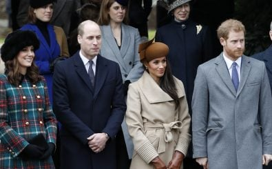 "Die ""fabulous four"": Kate, William, Meghan und Harry.. Foto: Adrian DENNIS / AFP."