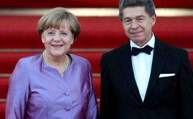 Angela Merkel und Joachim Sauer. Foto: | Ronny Hartmann / AFP