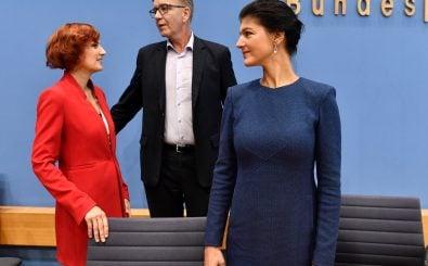 Sind sich spinnefeind: Katja Kipping (l.) und Sahra Wagenknecht (r.). Foto: John MacDougall | AFP