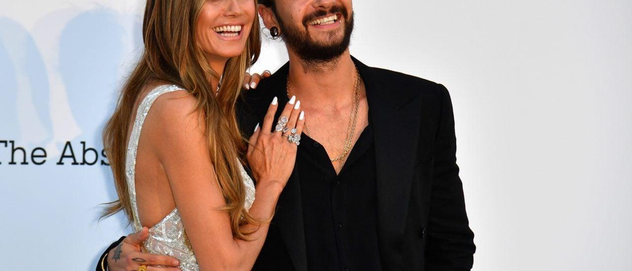 Sie in Weiß, er in Schwarz: So könnten Heidi Klum und Tom Kaulitz auch rasch heiraten. Foto: Alberto Pizzoli / AFP