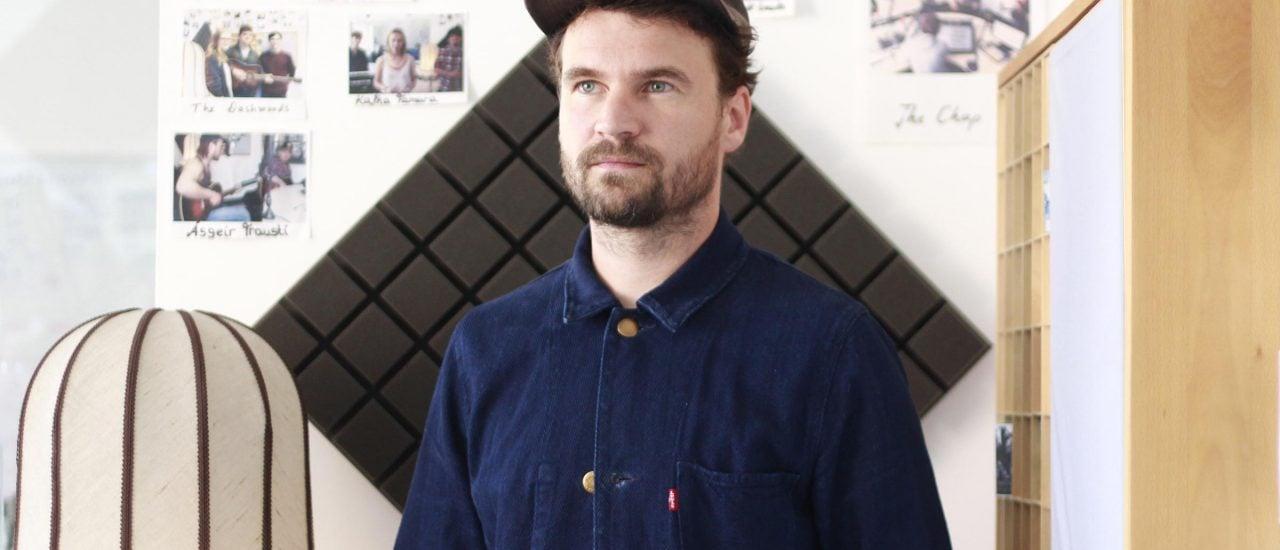 Florian Sievers alias Das Paradies zu Gast im detektor.fm-Studio. Foto: Kati Zubek