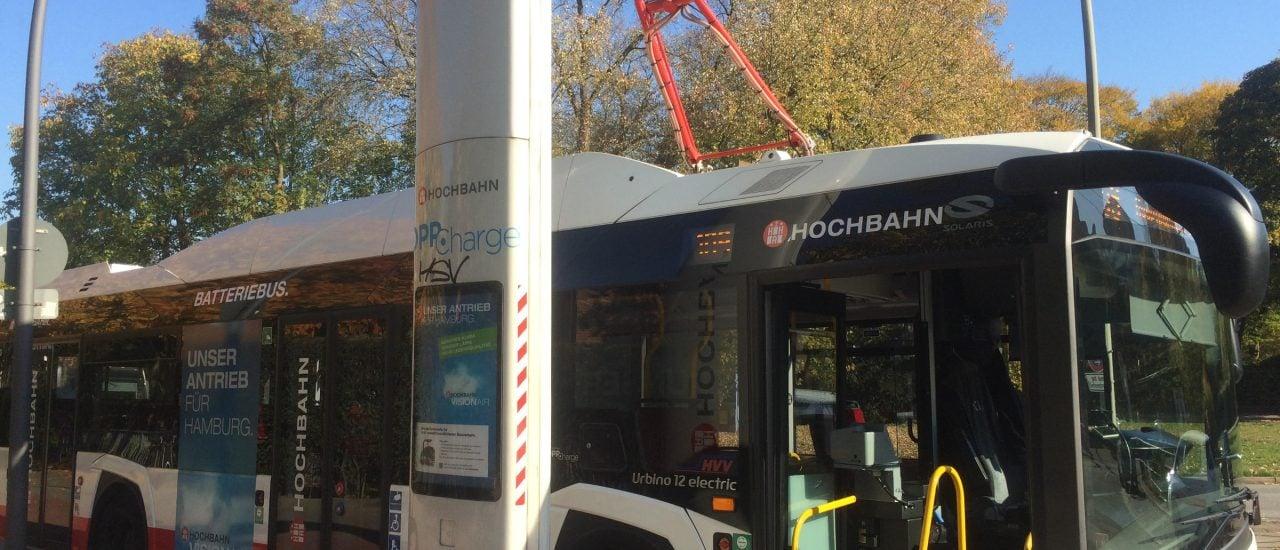 Ein E-Bus in Hamburg. Foto: Lina Bartnik | detektor.fm