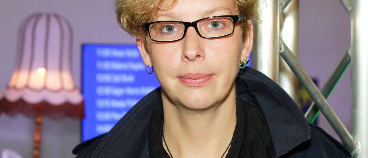 Manja Präkels auf der Frankfurter Buchmesse. Foto: Kati Zubek | detektor.fm