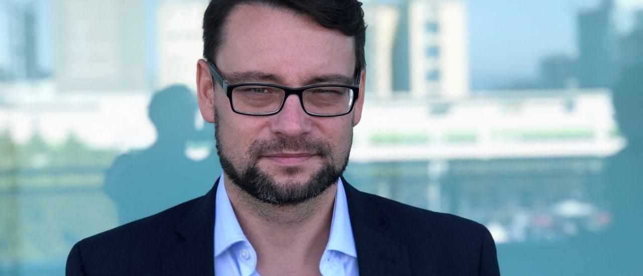 Michael Seemann auf der Frankfurter Buchmesse. Foto: Merten Waage | detektor.fm
