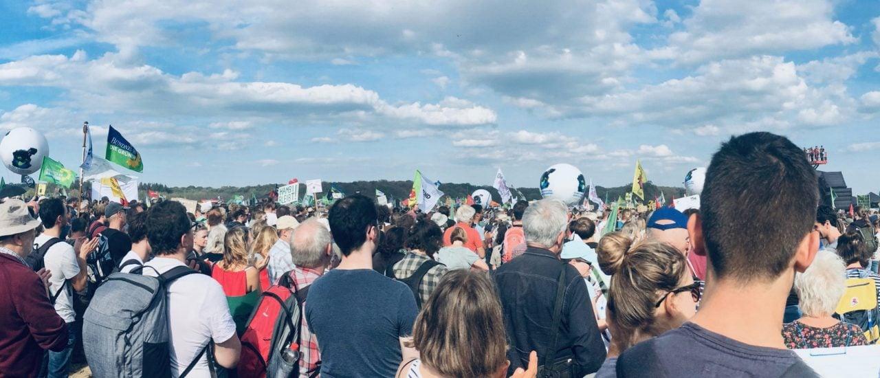 Demonstration am Hambacher Forst im Rheinland. Foto: Anja Bolle | detektor.fm