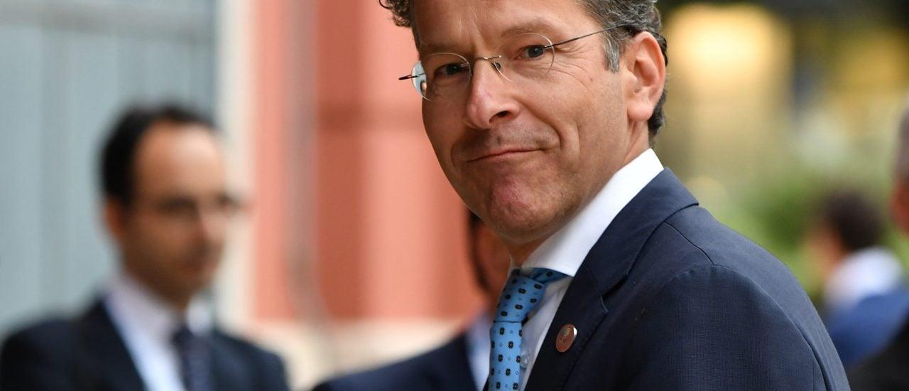 Dem ehemaligen Vorsitzenden der Euro-Gruppe, Jeroen Dijsselbloem, sind von der italienischen Fünf-Sterne-Bewegung Worte in den Mund gelegt worden. Foto: Alberto Pizzoli | AFP