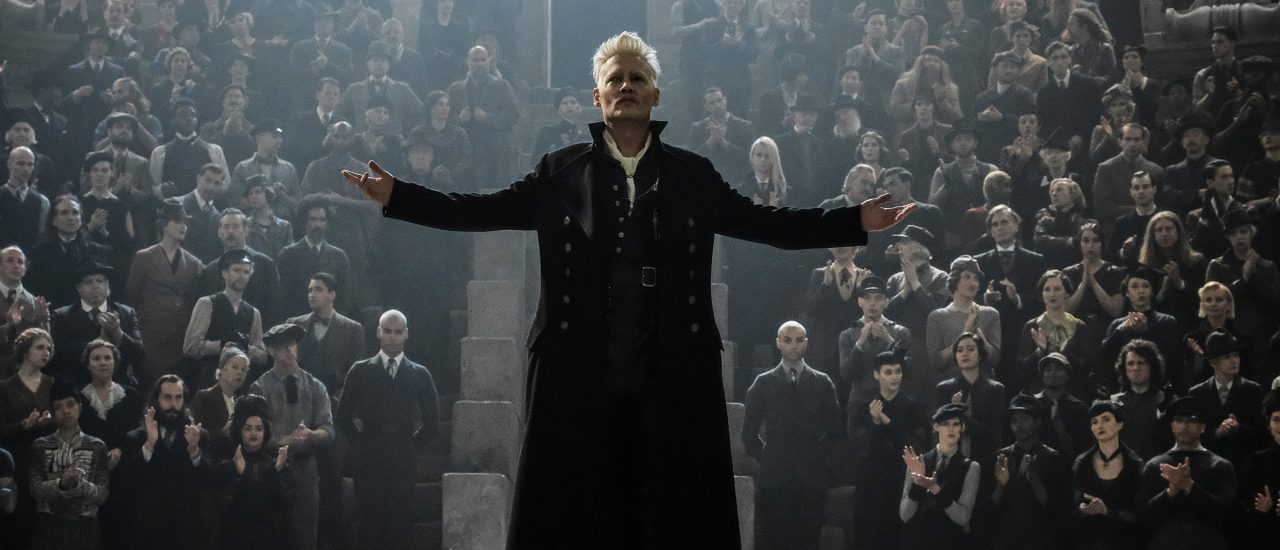 "JOHNNY DEPP as Grindelwald in Warner Bros. Pictures' fantasy adventure ""FANTASTIC BEASTS: THE CRIMES OF GRINDELWALD,"" a Warner Bros. Pictures release. 