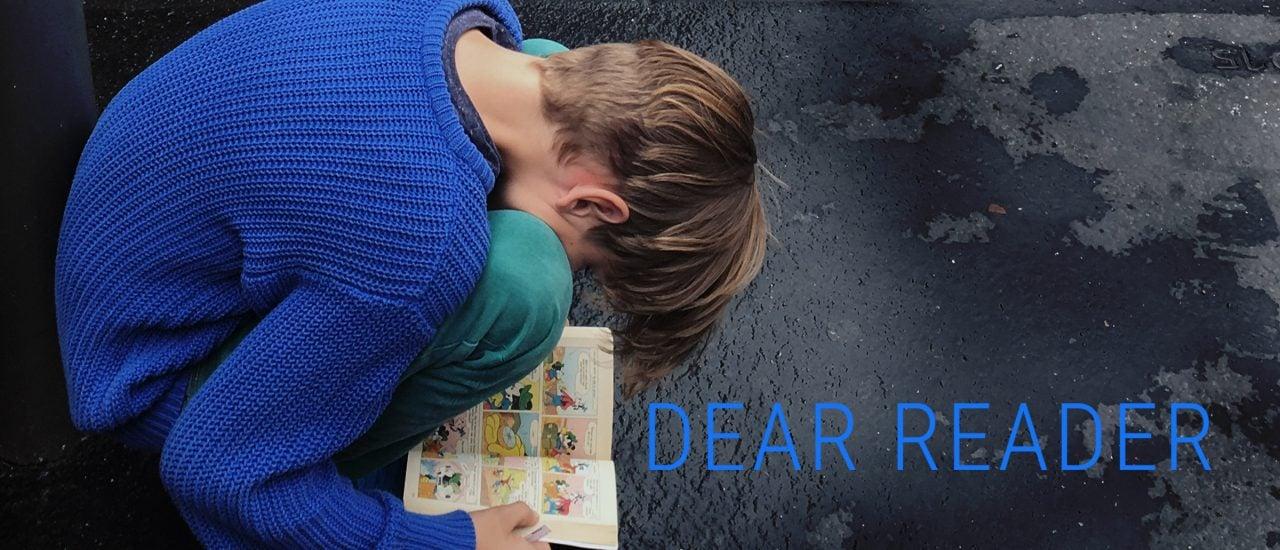 In Dear Reader trifft Mascha Jacobs ganz unterschiedliche Autoren und Autorinnen. Grafik: detektor.fm | piqd