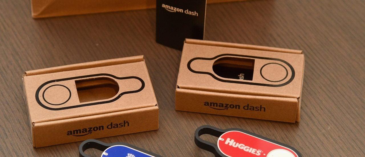 Der Amazon Dash-Button ist verstößt gegen das Verbraucherschutzgesetz sagt jetzt auch das Oberlandesgericht München. Foto: Bryan Bedder | AFP