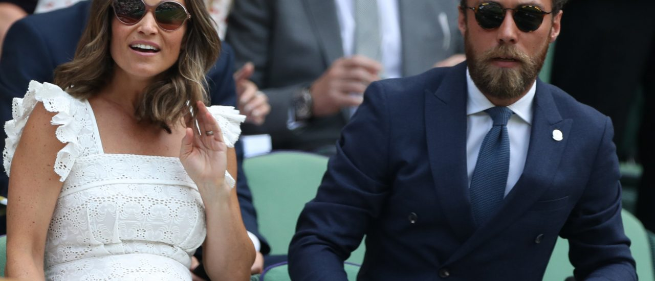 Pippa und James Middleton beim Tennis in London. Foto: Daniel Leal-Olivas | AFP