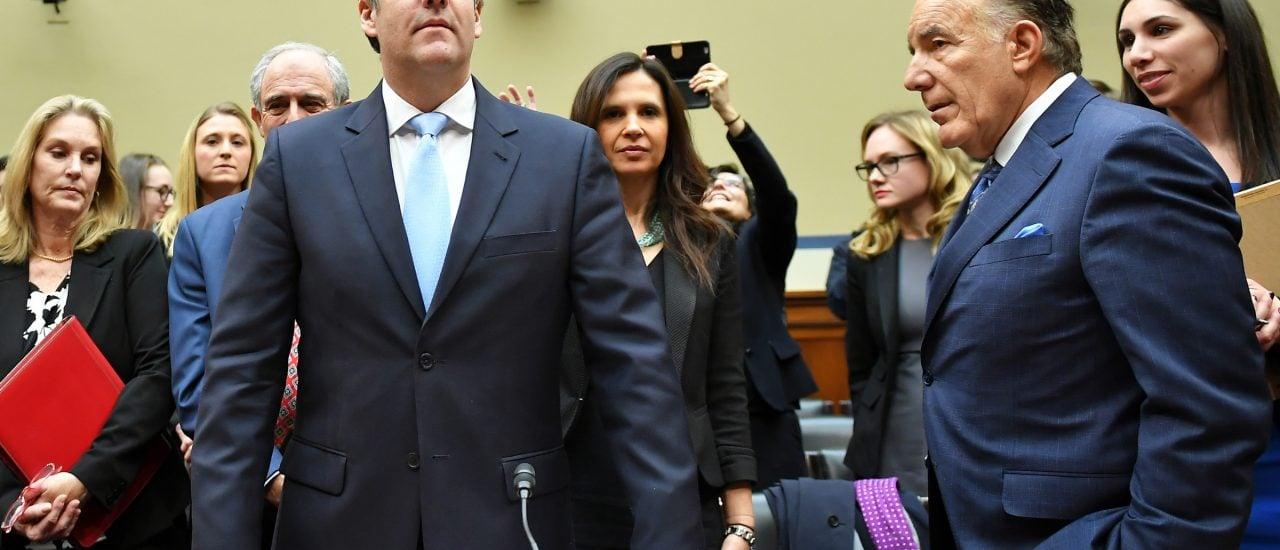 Donald Trumps Ex-Anwalt Michael Cohen hat diese Woche vor dem US-Kongress ausgesagt. Foto: Mandel Ngan | AFP