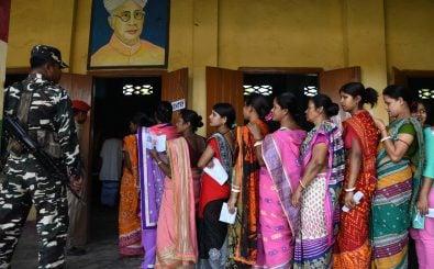 900 Millionen Menschen sind aufgerufen, in Indien ein neues Parlament zu wählen. Foto: Biju Boro | AFP