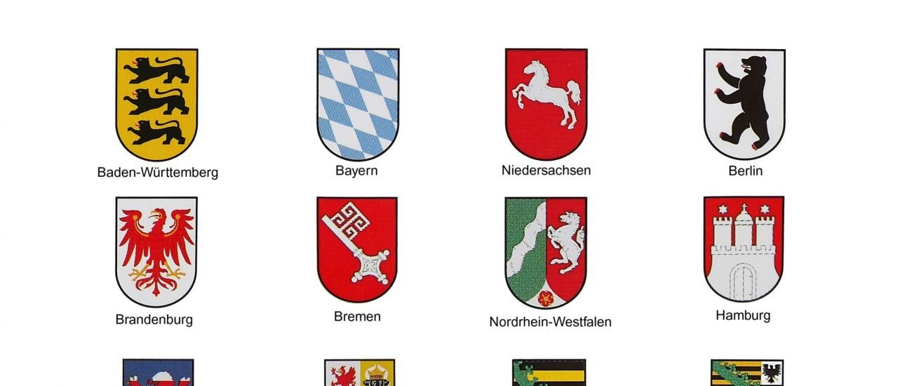 Die Wappen aller Bundesländer. Foto:  yuri4u80 / shutterstock.com
