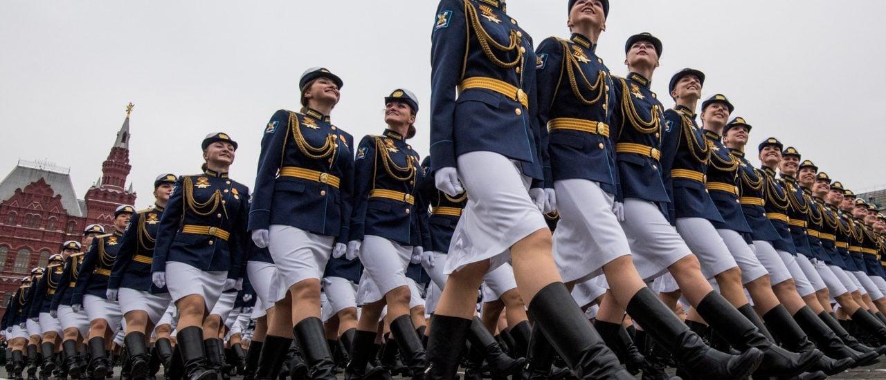 Militärparade auf dem roten Platz in Moskau. Foto: Mladen Anantonov | AFP
