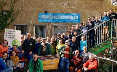 Passen nicht alle aufs Bild: die Mitglieder des Forums Freie Lastenräder. Foto: Tim Ehlhardt | Forum Freie Lastenräder
