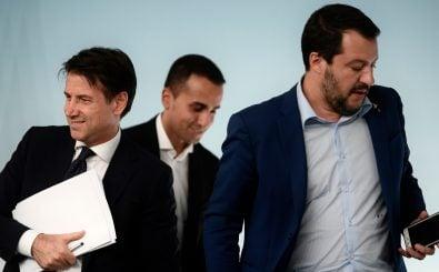 Lange werden Conte, Di Maio und Salvini vermutlich nicht mehr zusammenarbeiten. Foto: Filippo Monteforte | AFP