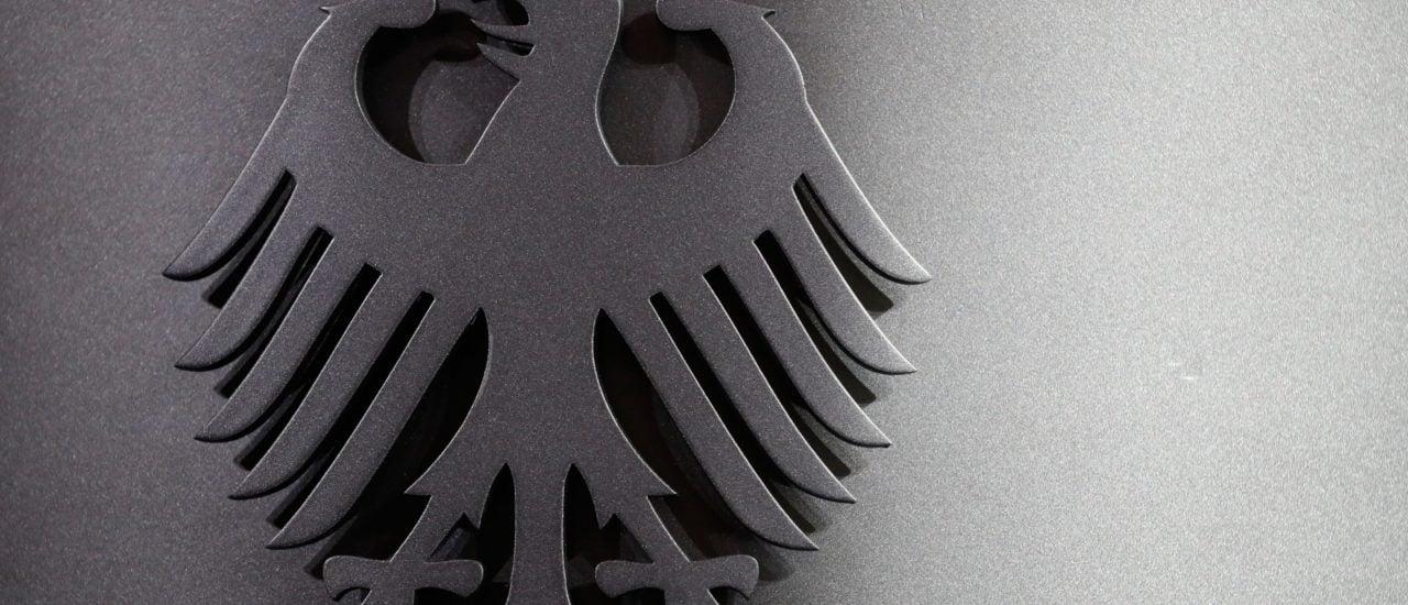 Der Bundesadler, hier zu sehen im Bundesinnenministerium. Foto: Odd Andersen / AFP: