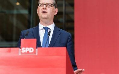 Der kommissarische Vorsitzende der SPD Thorsten Schäfer-Gümbel fordert die Einführung einer Vermögenssteuer. Foto: Markus Heine | AFP