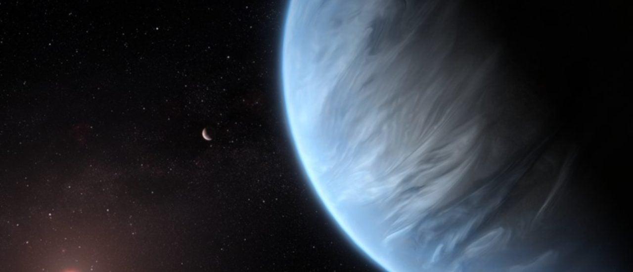 In der Atmosphäre von Planet K2-18b wurde Wasserdampf entdeckt. Bild: CC BY 4.0 | M. Kornmesser, ESA